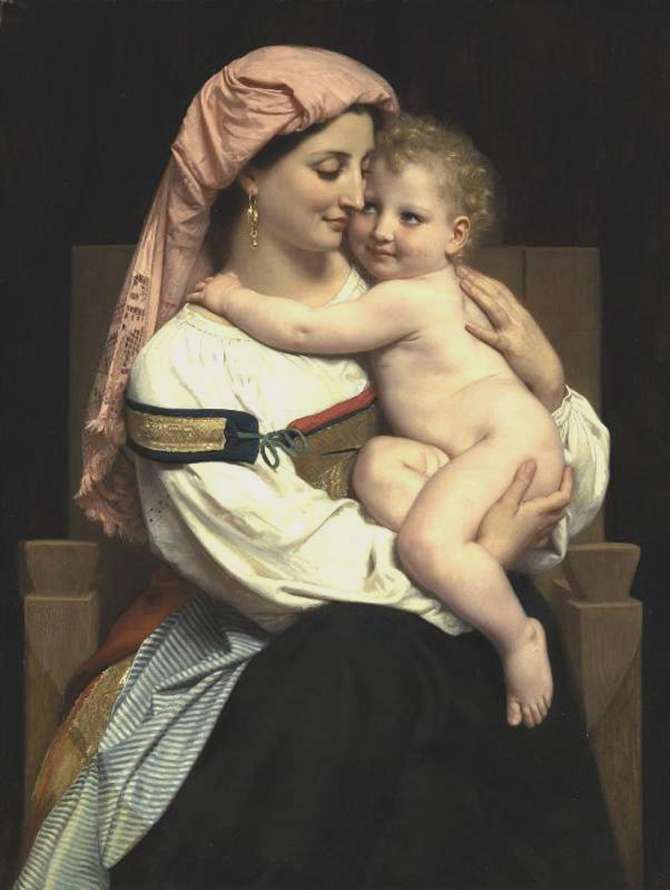 William Bouguereau (1825-1905)  Femme de Cervara et Son Enfant [Woman of Cervara and Her Child]  Oil on canvas, 1861  Public collection