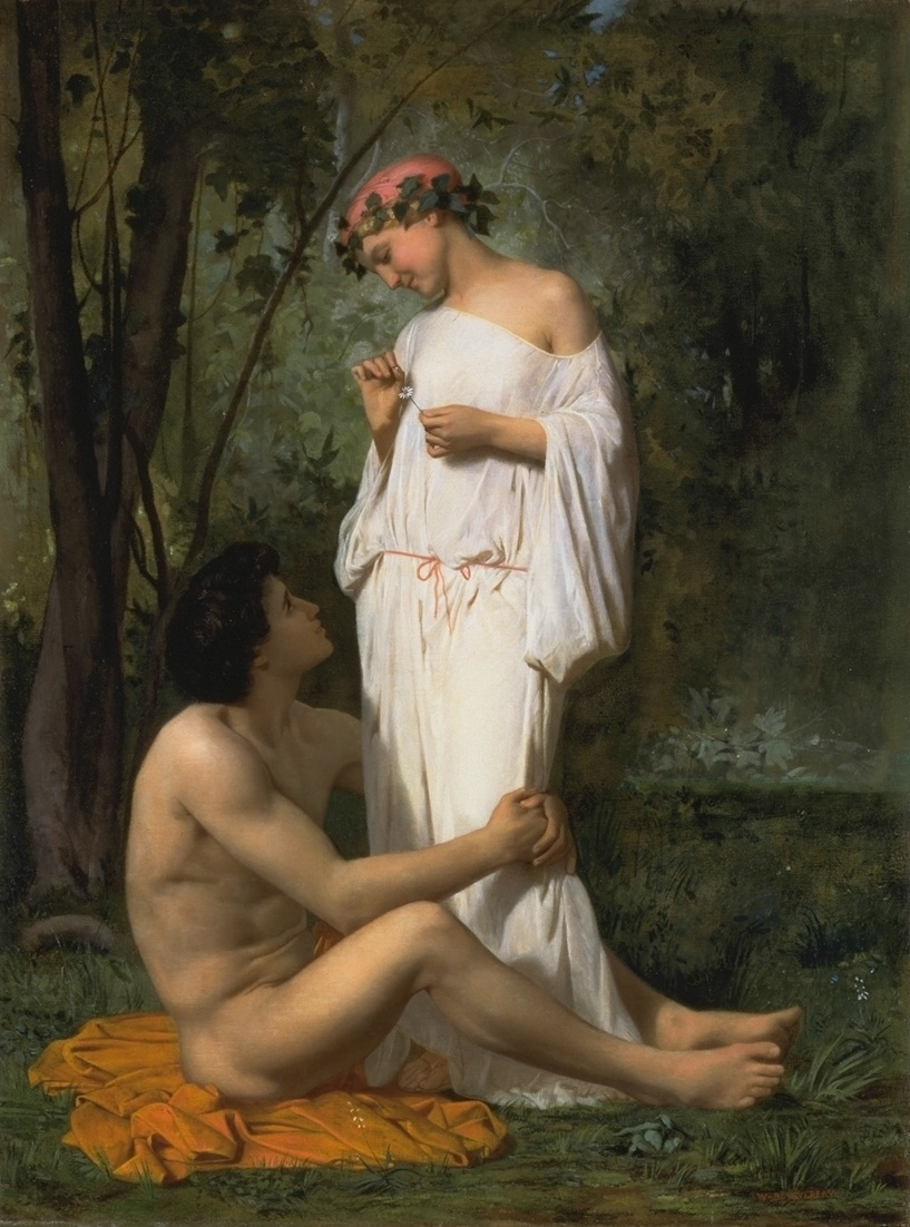 William Bouguereau (1825-1905)  Idylle  Oil on canvas, 1851  Public collection