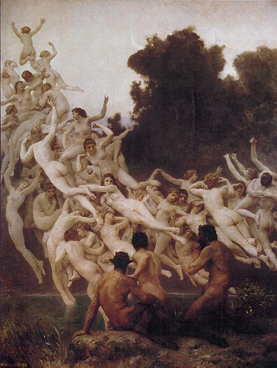 William Bouguereau (1825-1905)  Les Oreades  Oil on canvas, 1902  Public collection