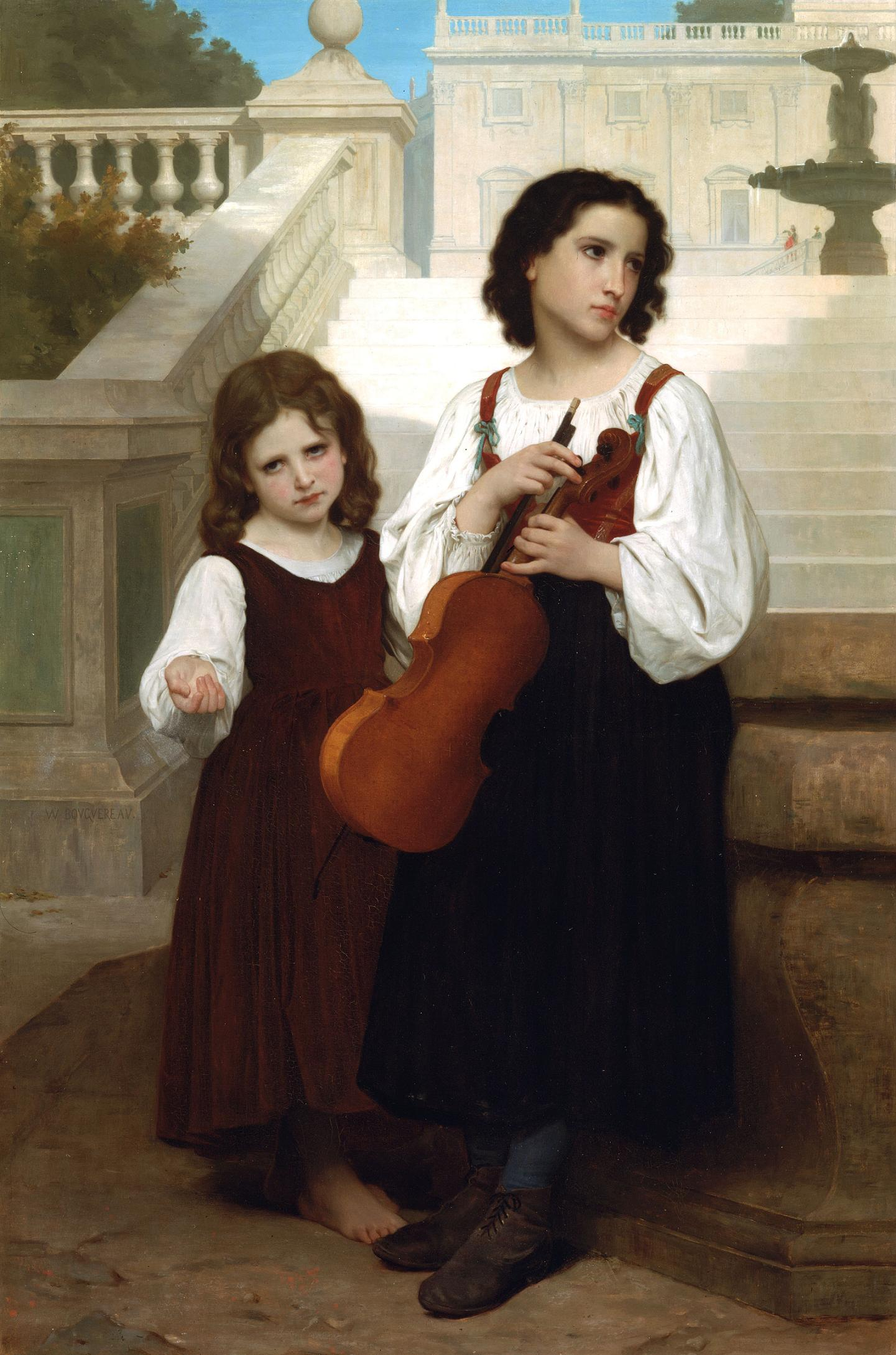 William Bouguereau (1825-1905)  Loin du pays [Far  home]  Oil on canvas, 1867  Private collection