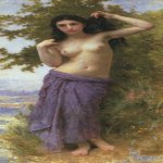 William Bouguereau (1825-1905)  Beauté Romane  Oil on canvas, 1904  Public collection