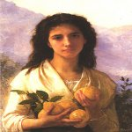 William Bouguereau (1825-1905)  Girl Holding Lemons  Oil on canvas, 1899  Public collection