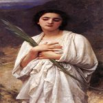 William Bouguereau (1825-1905)  La palme [The Palm Leaf]  Oil on canvas  Private collection