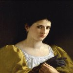 William Bouguereau (1825-1905)  Lady with Glove  Oil on canvas, 1870  Public collection