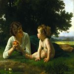 William Bouguereau (1825-1905)  Temptation  Oil on canvas, 1880  Public collection