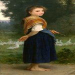 William Bouguereau (1825-1905)  The Goose Girl  Oil on canvas, 1891  Public collection