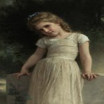 William Bouguereau (1825-1905)  The Mischievous One  Oil on canvas, 1895  37 1/8 x 23 1/2 inches (94.6 x 59.7 cm)  Private collection