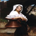 William Bouguereau (1825-1905)  Jeune Italienne puisant de l'eau [Italian Girl Drawing Water]  Oil on canvas, 1871  47 x 31 inches (119.5 x 79 cm)  Private collection