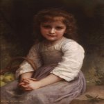 William Bouguereau (1825-1905)  Les pommes [Apples]  Oil on canvas, 1897  25 7/8 x 20 1/4 inches (66 x 51.5 cm)  Private collection