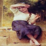 William Bouguereau (1825-1905)  Marguerite  Oil on canvas, 1900  46 1/4 x 29 inches (117.5 x 73.7 cm)  Private collection