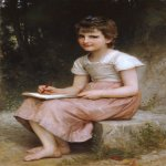 William Bouguereau (1825-1905)  Une vocation [A calling]  Oil on canvas, 1896  41 1/2 x 27 1/2 inches (105.5 x 70 cm)  Private collection