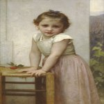 William Bouguereau (1825-1905)  Yvonne  Oil on canvas, 1896  34 3/8 x 21 3/8 inches (87.5 x 54.4 cm)  Private collection