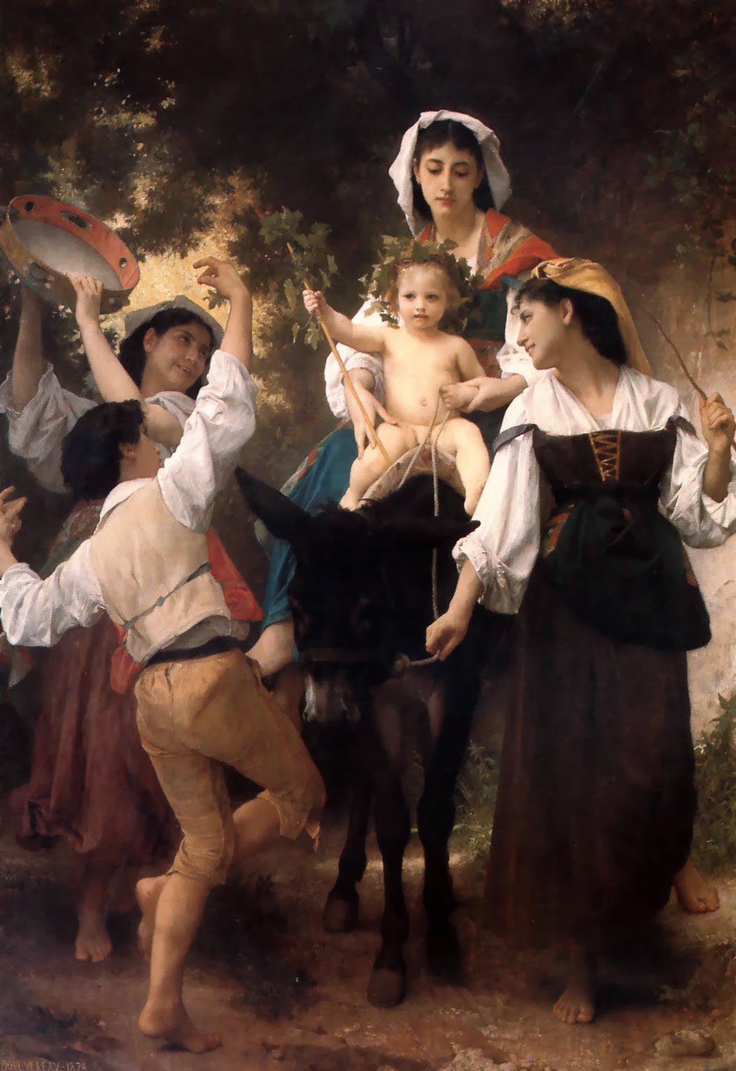 William Bouguereau (1825-1905)  Promenade а вne [Donkey Ride]  Oil on canvas, 1878  95 x 42 1/8 inches (241.3 x 107.2 cm)  Cummer Museum of Art and Gardens, Jacksonville