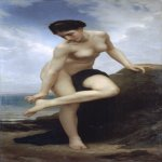 William Bouguereau (1825-1905)   Après le Bain[After the Bath]  Oil on canvas, 1875  71 1/4 x 35 5/8 inches (181 x 90.5 cm)  Museo-Teatro Salvador Dali , Figueiras