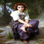 William Bouguereau (1825-1905)  Au Bord du Ruisseau [At the Edge of the Brook]  Oil on canvas, 1875  Collection of Fred and Sherry Ross