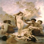William Bouguereau (1825-1905)  Naissance de Venus [Birth of Venus]  Oil on canvas, 1879  118 x 85 3/4 inches (300 x 218 cm)   Museum d'Orsay, Paris