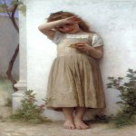 William Bouguereau (1825-1905)  En Penitence [In Penitence]  Oil on canvas, 1895  51 1/2 x 30 1/2 inches (131 x 77.5 cm)  Private collection