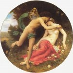 William Bouguereau (1825-1905)  Flore et Zephyre [Flora and Zephyr]  Oil on canvas, 1875   Musée des Beaux-Arts, Mulhouse