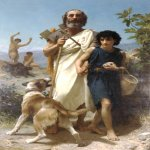 William Bouguereau (1825-1905)  Homere et son Guide [Homer and his Guide]  Oil on canvas, 1874  82 1/4 x 56 1/4 inches (209 x 143 cm)  Milwaukee Art Museum, Milwaukee