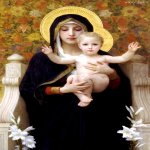 William Bouguereau (1825-1905)  La Vierge au Lys [The Virgin of the Lilies]  Oil on canvas, 1899  Private collection