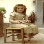 William Bouguereau (1825-1905)  Le Gouter [Just a Taste]  Oil on canvas, 1895  45 3/8 x 27 1/2 inches (115.5 x 70 cm)  Private collection