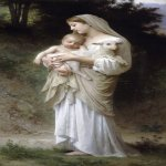 William Bouguereau (1825-1905)  L'innocence [Innocence]  Oil on canvas, 1893  39 1/4 x 20 5/8 inches (100 x 52.5 cm)  Private collection