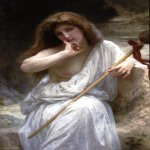 William Bouguereau (1825-1905)  Bacchante  Oil on canvas, 1899  39 1/4 x 27 3/4 inches (100 x 70.5 cm)  Private collection