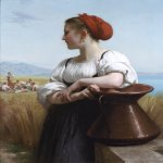 William Bouguereau (1825-1905)  Moissonneuse [The Harvester]  Oil on canvas, 1868  41 7/8 x 33 3/8 inches (106.5 x 85 cm)  Private collection