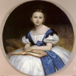 William Bouguereau (1825-1905)  Portrait de Mlle Brissac [Portrait of Miss Brissac]  Oil on canvas, 1863  35 3/4 x 27 7/8 inches (91 x 71 cm)  Private collection