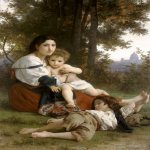 William Bouguereau (1825-1905)  Le Repos [Rest]  Oil on canvas, 1879  64 1/2 x 42 1/8 inches (164 x 107 cm)  Cleveland Museum of Art, Cleveland