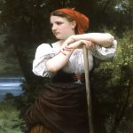 William Bouguereau (1825-1905)  Faneuse [The Haymaker]  Oil on canvas, 1869  39 7/8 x 31 7/8 inches (101.5 x 81 cm)  Carnegie Museum of Art, Pittsburgh