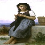 William Bouguereau (1825-1905)  La Tricoteuse [The Little Knitter]  Oil on canvas, -1884  Collection of Fred and Sherry Ross