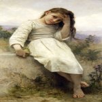 William Bouguereau (1825-1905)  Petite Maraudeuse [Little Thief]  Oil on canvas, 1900  48 3/4 x 27 1/2 inches (124 x 70 cm)  Private collection