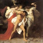 William Bouguereau (1825-1905)  Les Remords d'Oreste [The Remorse of Orestes]  Oil on canvas, 1862  89 1/4 x 109 3/8 inches (227 x 278 cm)  Chrysler Collection, Norfolk