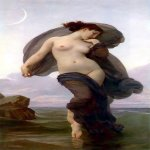 William Bouguereau (1825-1905)  Le crepuscule [Twilight]  Oil on canvas, 1882  50 x 25 7/8 inches (127 x 66 cm)  Private collection