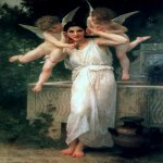 William Bouguereau (1825-1905)  Jeunesse [Youth]  Oil on canvas, 1893  74 3/8 x 48 3/8 inches (189 x 123 cm)  Private collection