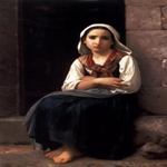 William Bouguereau (1825-1905)  Yvonette  Oil on canvas, 1867  51 1/2 x 33 3/8 inches (131 x 85 cm)  Private collection