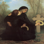 William Bouguereau (1825-1905)  Le jour des morts [The Day of the Dead]  Oil on canvas, 1859  57 3/4 x 47 1/8 inches (147 x 120 cm)   Musée des Beaux-Arts, Bordeaux