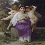 William Bouguereau (1825-1905)  L'Eveil du Coeur [The Heart's Awakening]  Oil on canvas, 1892  62 7/8 x 43 5/8 inches (160 x 111 cm)  Private collection
