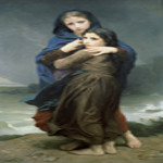 William Bouguereau (1825-1905)  L'Orage [The Storm]  Oil on canvas, 1874  Private collection
