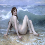 William Bouguereau (1825-1905)  La Vague [The Wave]  Oil on canvas, 1896  47 5/8 x 63 1/8 inches (121 x 160.5 cm)  Private collection