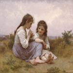 William Bouguereau (1825-1905)  Idylle Enfantine [A Childhood Idyll]  Oil on canvas, 1900  40 1/8 x 51 1/8 inches (102 x 130 cm)  Denver Art Museum, Denver