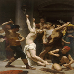 William Bouguereau (1825-1905)  Flagellation de Notre Seigneur Jйsus Christ [The Flagellation of Our Lord Jesus Christ]  Oil on canvas, 1880  121 5/8 x 83 3/8 inches (309 x 212 cm)  Cathedral of La Rochelle, La Rochelle