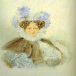 Alexander Brulloff (1798 - 1877)  Portrait of C. I. Zagriazhskaya  Watercolor on paper,1820s  The Pushkin Museum in Moscow, Russia