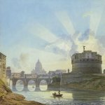 Alexander Brulloff (1798 - 1877)  View the castle of St. Angela in Rome  Watercolor on paper, ink, 1823-1826