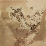 Brulloff Karl (1799 - 1852)	  Mountain hunters  Paper, sepia, 1835  26.7x18.2 cm  The Tretyakov Gallery, Moscow, Russia
