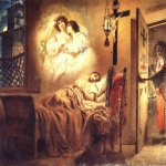 Brulloff Karl (1799 - 1852)  Nun's Dream  Watercolor on paper, 1831  The Russian Museum, St. Petersburg, Russia