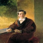 Brulloff Karl (1799 - 1852)  Portrait of Count A. A. Perovsky (the Writer Anton Pogorelsky)  Oil on canvas, 1836. Unfinished  The Russian Museum, St. Petersburg, Russia
