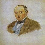 Brulloff Karl (1799 - 1852)	  Portrait of a Man  the Tittoni family  Watercolor on paper, 1830  The Tretyakov Gallery, Moscow, Russia