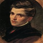 Brulloff Karl (1799 - 1852)  Portrait of Alexander Bruloff [Портрет архитектора А.П.Брюллова, брата художника]  Oil on canvas, 1823-1827  45.5x35.2 см  The Russian Museum, St. Petersburg, Russia